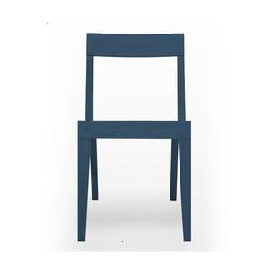 Niebieskie krzesło do jadalni z drewna dębowego Another Brand Cubo