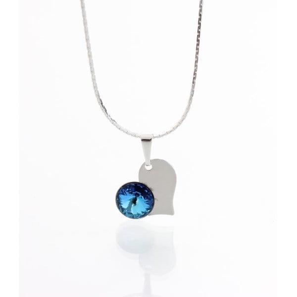 Niebieski naszyjnik z kryształami Swarovskiego Yasmine Heart