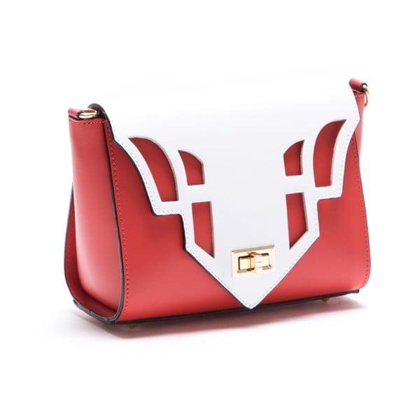 Skórzana torebka Luisa Vannini 3036, czerwona