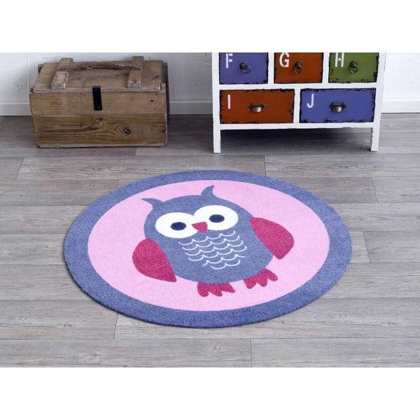 Różowy dywan dziecięcy Zala Living Owl, ⌀100cm