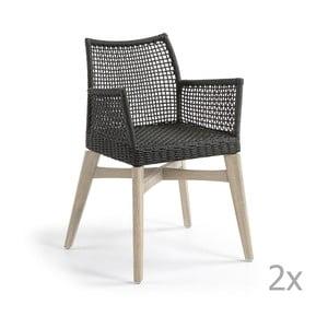Zestaw 2 ciemnoszarych krzeseł La Forma Rodini
