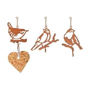 Zestaw 3 metalowych uchwytów na karmę dla ptaków Esschert Design