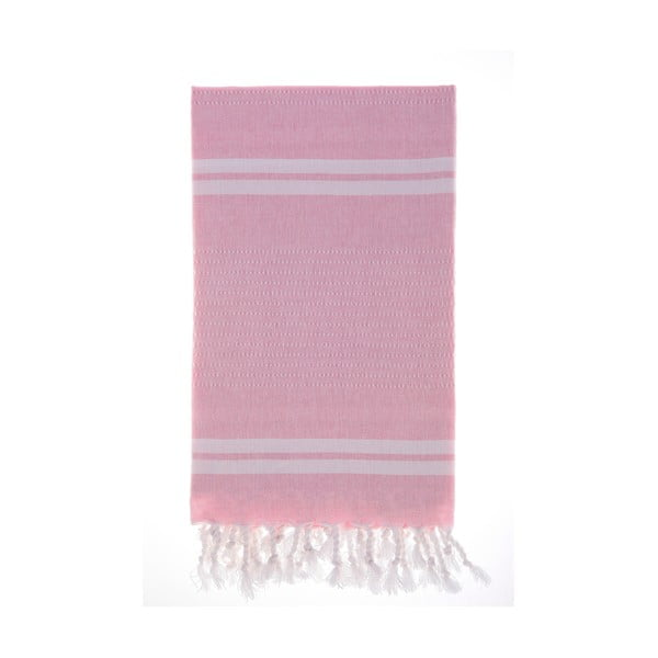 Ręcznik Hamam Bodrum Pink, 100x180 cm