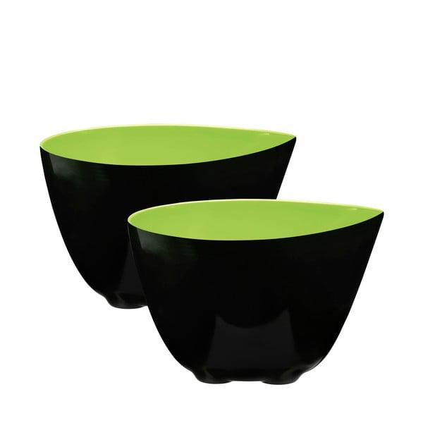 Zestaw 2 misek, zielony