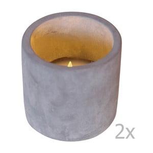 Zestaw 2 szarych świeczek LED Best Season Cemmy