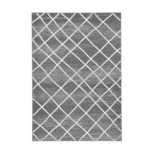 Tmavě šedý koberec Zala LivingRhombe, 70x140cm