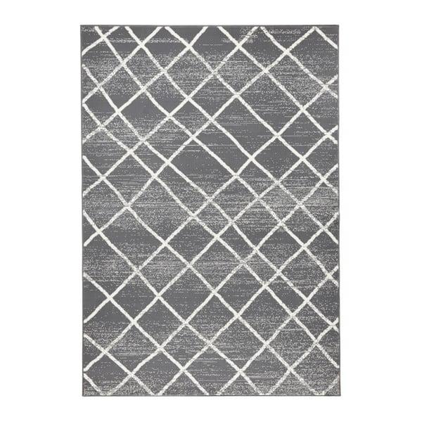 Ciemnoszary dywan Hanse Home Rhombe, 70x140 cm