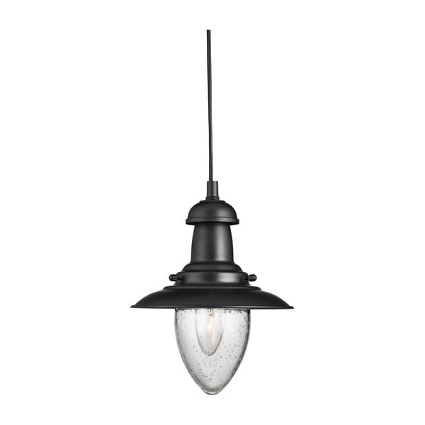 Lampa wisząca Searchlight Fisherman, czarna