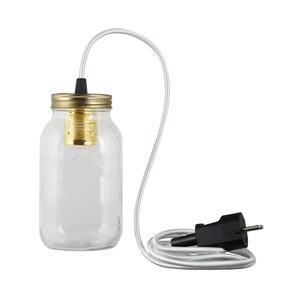 Lampa JamJar Lights, srebrny okrągły kabel