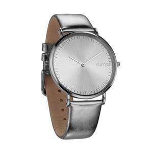 Srebrny zegarek ze skórzanym paskiem Rumbatime Chelasea Lights