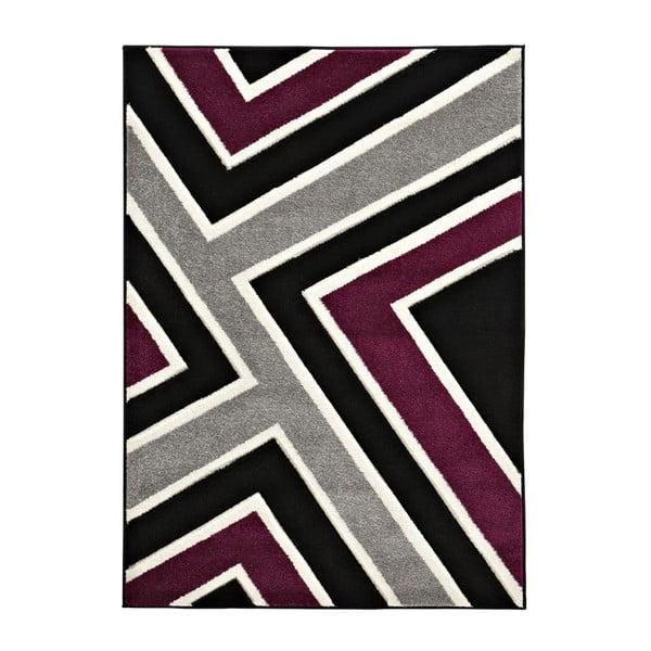 Dywan Matrix Black Violet, 120x170 cm