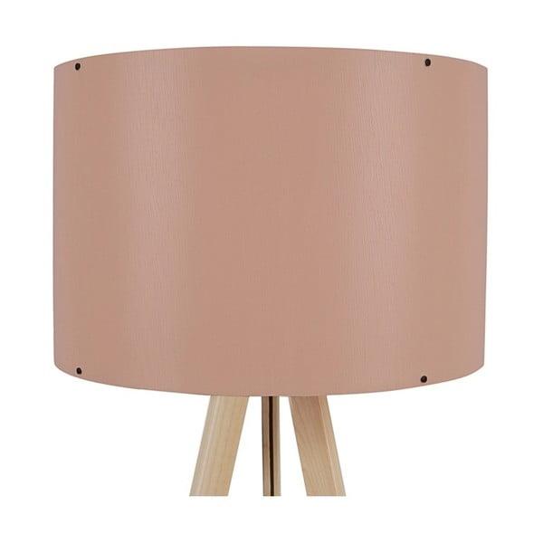 Lampa stojąca z jasnoróżowym abażurem Aiden