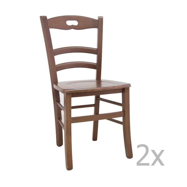 Zestaw 2 krzeseł z jasnego drewna Castagnetti Lavagna