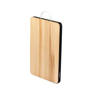 Bukowa deska do krojenia z czarną krawędzią BiKompletti Touch, 23x35 cm