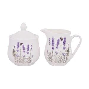 Cukierniczka i mlecznik z porcelany kostnej Ashdene I Love Lavender