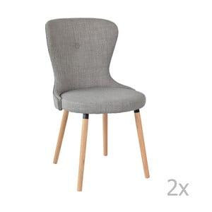 Zestaw 2 szarych krzeseł RGE Boogie