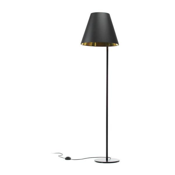 Czarno-złota lampa stojąca Book, 158 cm