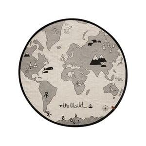 Bawełniany dywan OYOY The World, ⌀ 135 cm