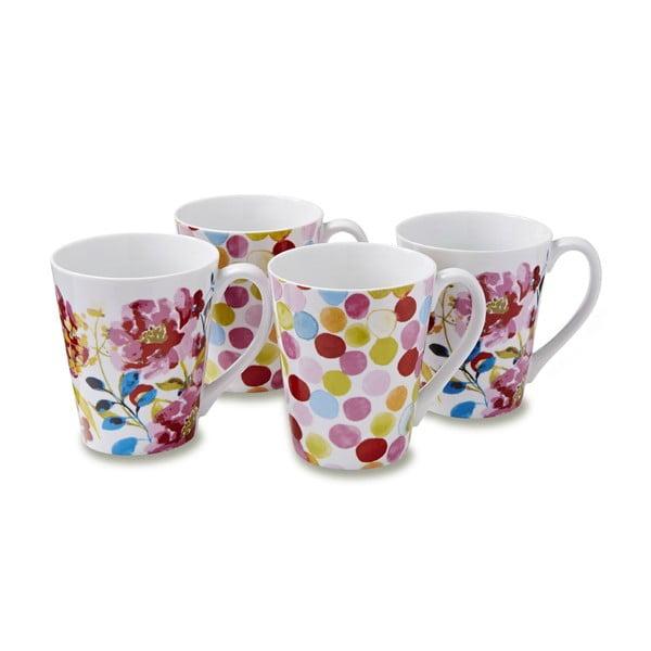 Zestaw 4 kubków Cooksmart England Floral Romance