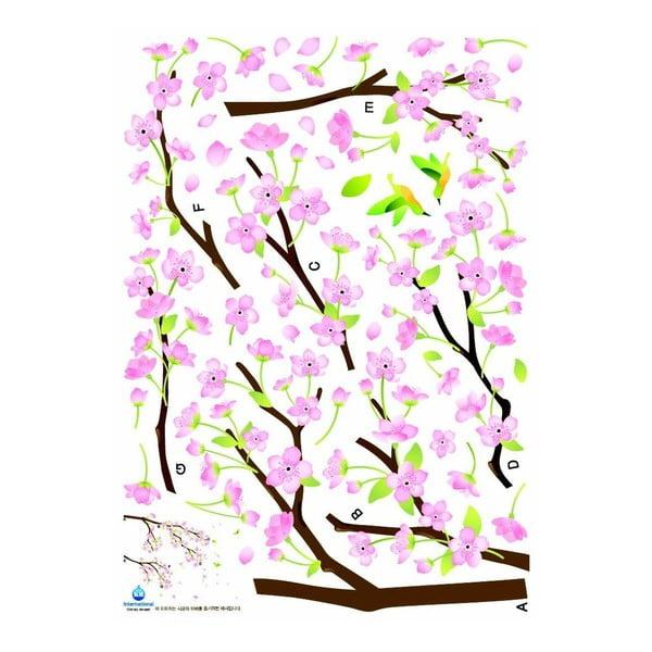 Zestaw naklejek Ambiance Tree Branch Pink Flowers