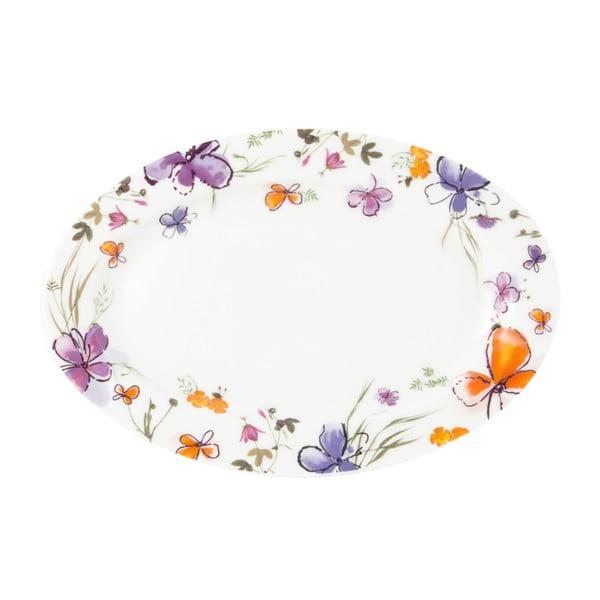 Talerz Krauff Aquarelle Oval, 22 cm