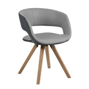 Jasnoszare krzesło Actona Grace
