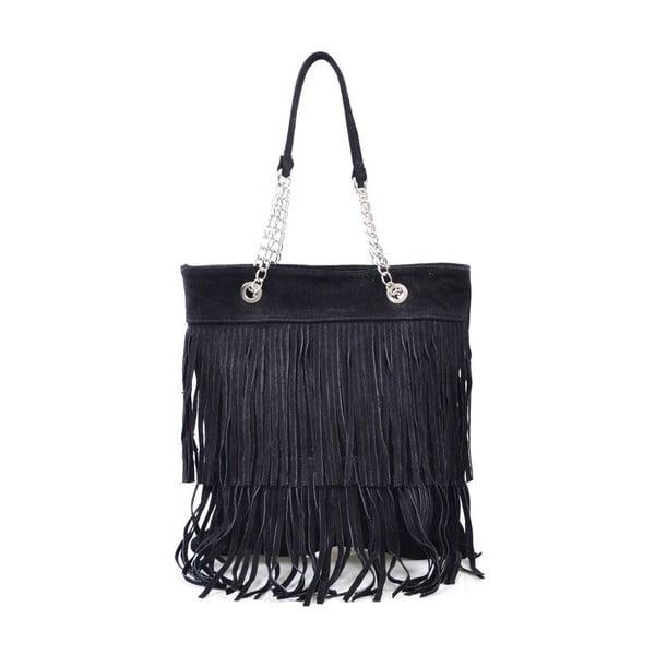Skórzana torebka Marianne, czarna