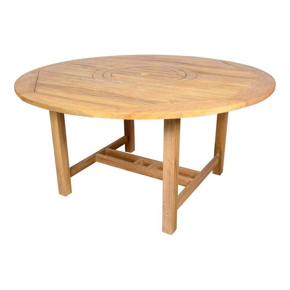 Okrągły stół ogrodowy z drewna tekowego Ezeis Sun, ø 150 cm