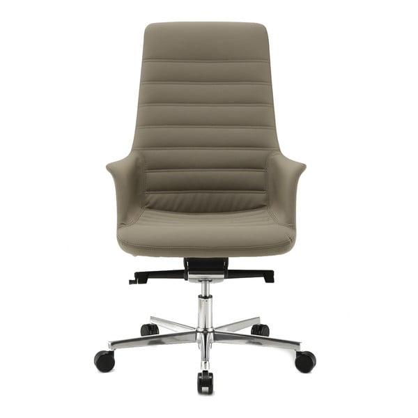 Szare krzesło biurowe na kółkach Vetta Zago