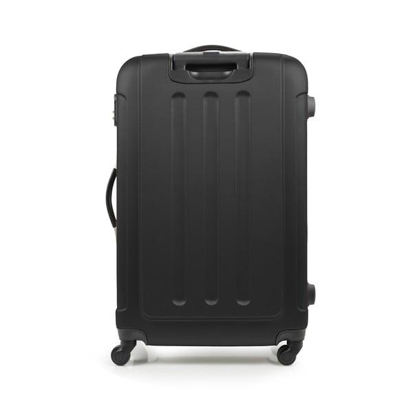 Zestaw 3 czarnych walizek na kółkach Bluestar Thompson