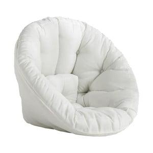 Biały fotel rozkładany odpowiedni na zewnątrz Karup Design OUT™ Nido White