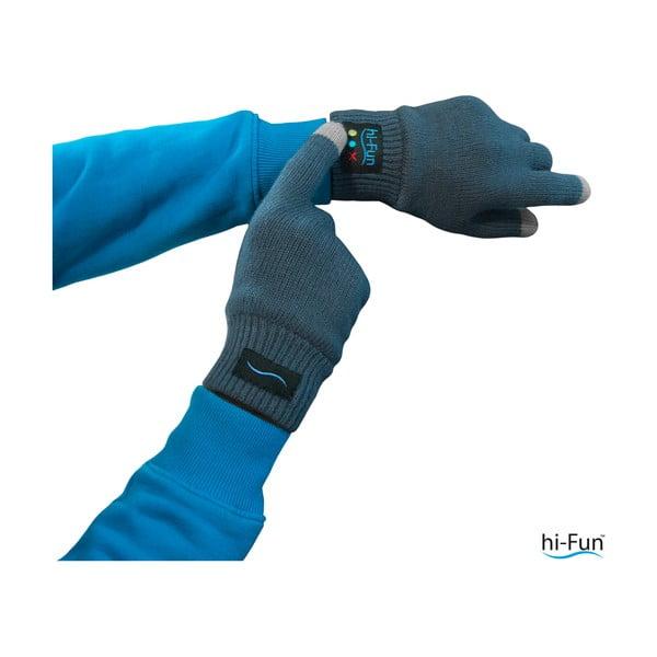 Męskie rękawiczki z zestawem słuchawkowym Hi-Call Headset, czarne