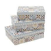 Zestaw   3 kanciastych pudełek InArt Boho Therese