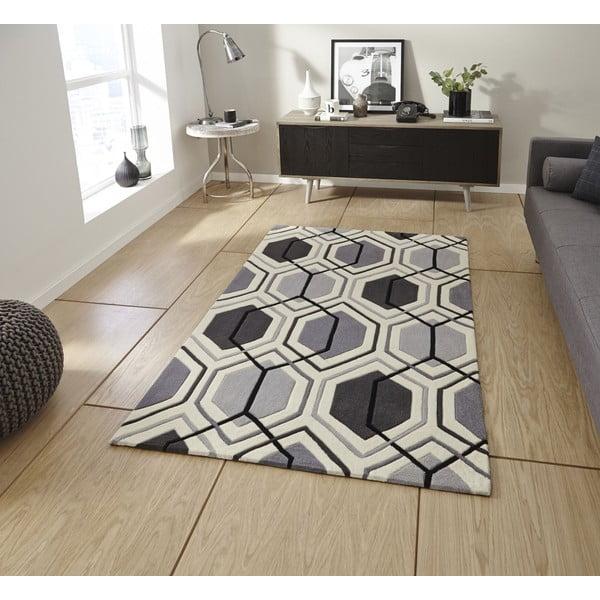 Dywan Flat 90x150 cm, szary