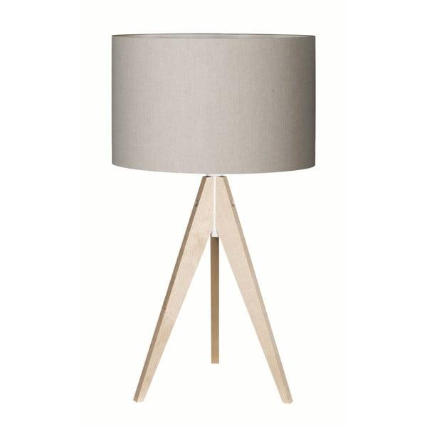 Szara lampa stołowa 4room Artist, brzoza, Ø 33 cm