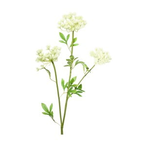 Sztuczna gałązka z białymi kwiatkami Ixia Lace, wys.97cm