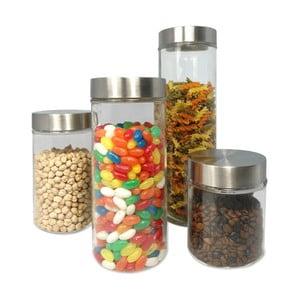 Zestaw 4 szklanych pojemników JOCCA