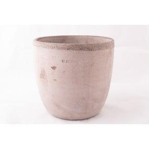 Doniczka ceramiczna Oll 26 cm, szara