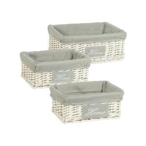 Komplet 3 wiklinowych koszyków Cosas de Casa Chic Home, jasne