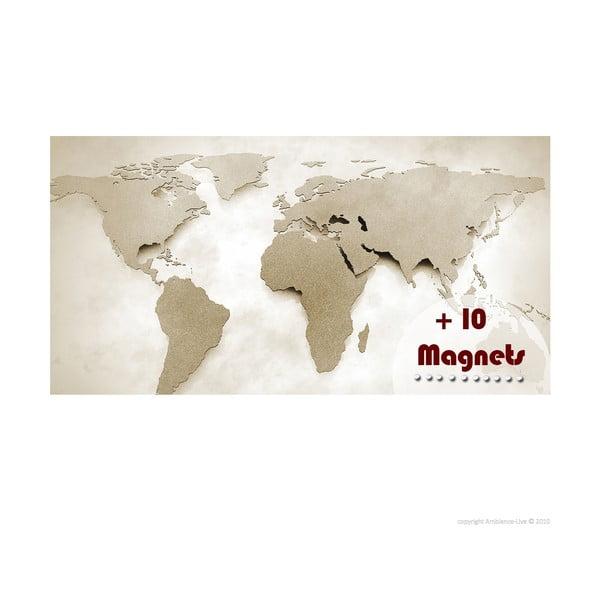 Magnetyczna mapa świata z magnesami Ambiance s magnety