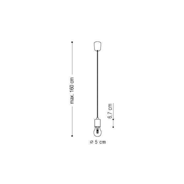 Dwa wiszące kable Zero, czarny/czarny