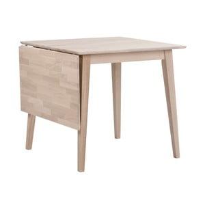 Matowy lakierowany stół dębowy z opuszczanym blatem Folke Mimi, długość 80-125cm