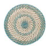 Mata stołowa Reed Blue, 39x39x2 cm