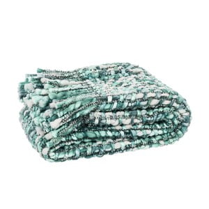 Pled Fringes Green, 125x150 cm