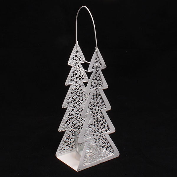 Dekoracyjna metalowa choinka, 10 cm