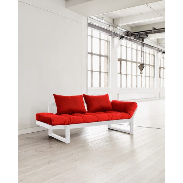 Sofa Karup Edge White/Red