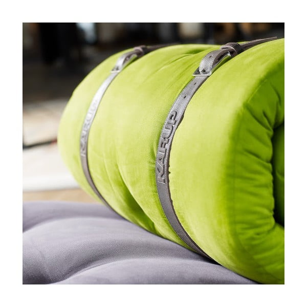 Sofa rozkładana Karup Buckle Up Gray/Lime