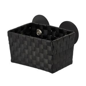 Czarny koszyk samoprzylepny Wenko Fermo