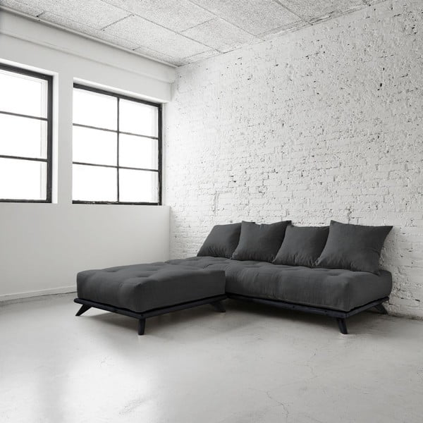 Sofa Senza Black/Dark