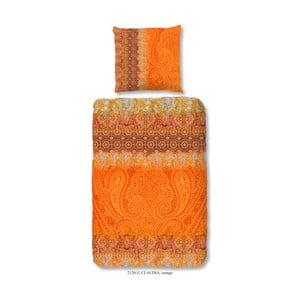 Pościel jednoosobowa z satyny bawełnianej Muller Textiels Sangria, 140x200 cm